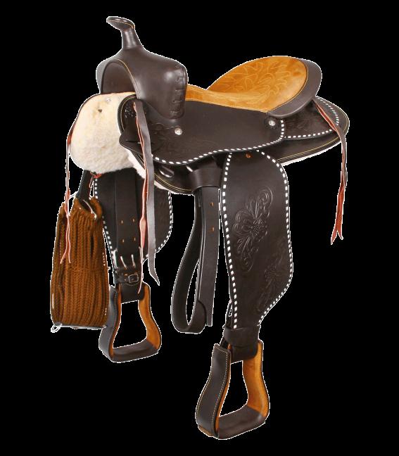 Round Skirt Westernsattel, Little Joe