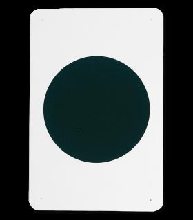 QHP Bahnpylone Bahnpunkte Dressur-Viereck 20 m x 40 m weiß schwarze Schrift