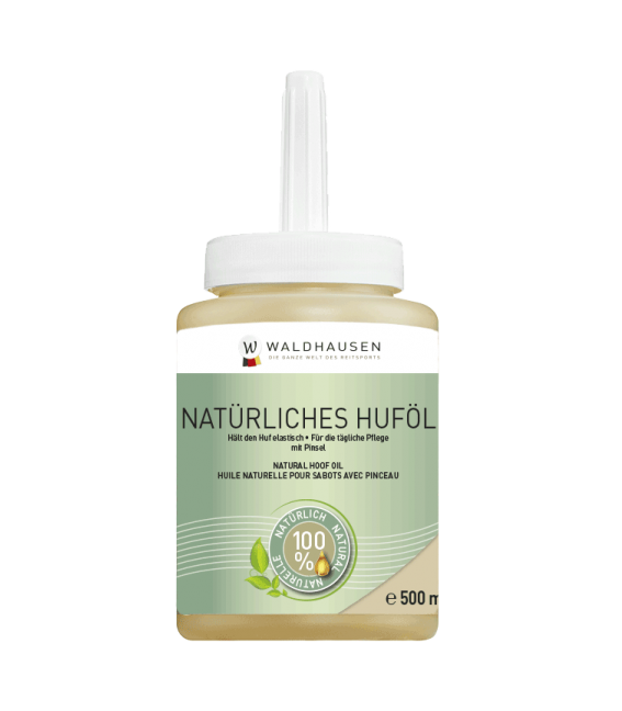 Natural Hoof Oil with brush, 500 ml