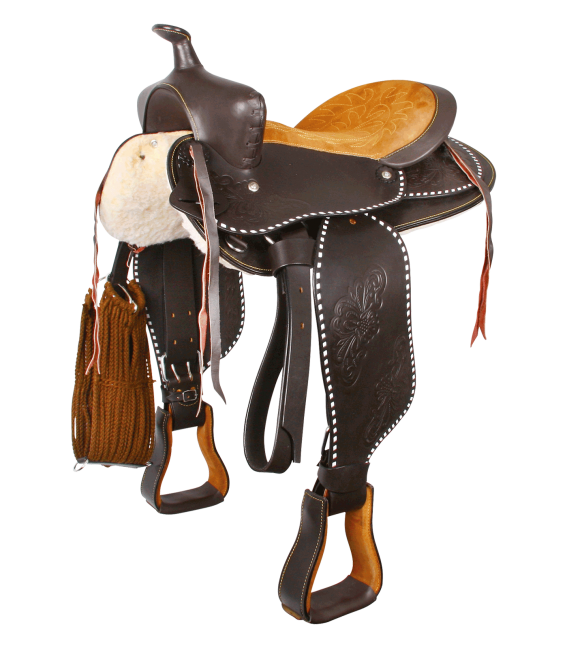 Round Skirt Western Saddle, Little Joe