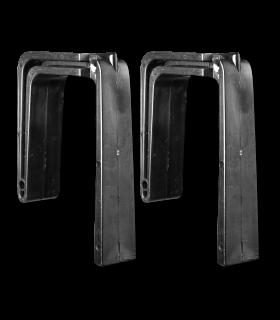 Plastic hooks, pair