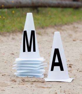 Arena marker cones, 20x40m arena