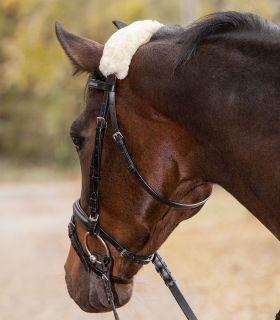 Real Lambskin Noseband or Headpiece Cushioning