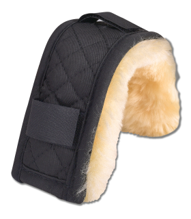 Lambskin nose or chin protector, 18 cm