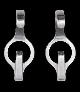 CIRCLE Curb Chain Hooks, Pair