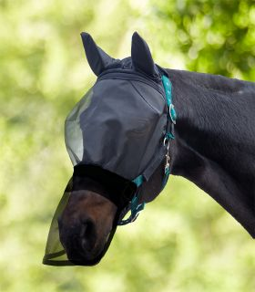 PREMIUM Velcro Fly Mask Velcro, with ear and nose protection