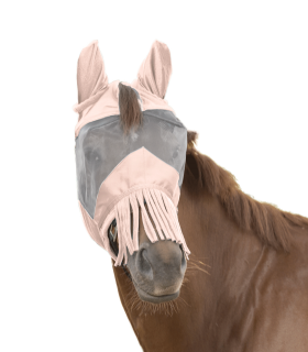 PREMIUM Fly Mask with ear protection and nose fringe