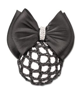 Bun net with bow and clasp
