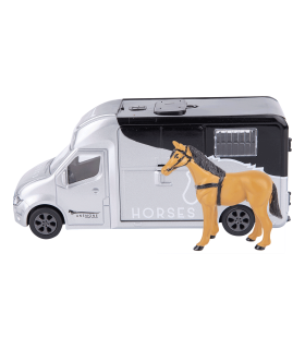 Horse trailer playset with light & sound