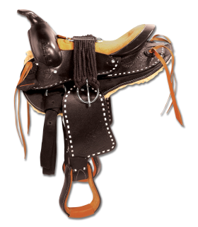 Round Skirt Western Saddle, Bonanza
