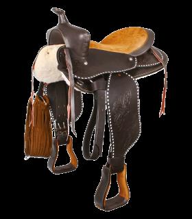 Round Skirt Western Saddle, Little Joe