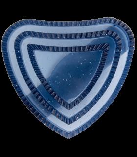 Étrille contre-poil en forme de cœur