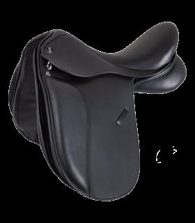 Selle de dressage en cuir Comfort pour poney