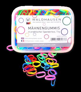 Élastiques extra larges à natter, multicolore, Boîte distributrice