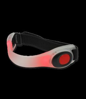 Fascia da braccio riflettente con luce a LED rossa