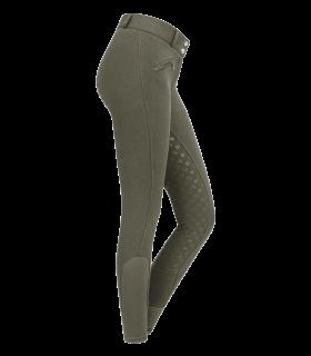 Pantaloni termici da equitazione Fun Sport, in silicone, vita alta