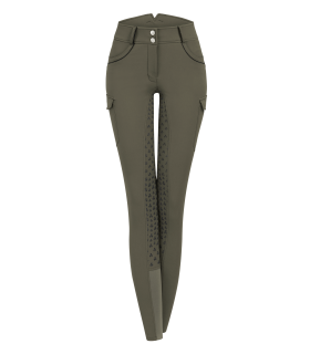 Pantaloni da equitazione cargo Gloria Vita alta