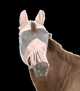 Maschera antimosche PREMIUM con protezione per le orecchie e frangia