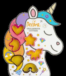 Set tagliabiscotti unicorno/mondo magico, 6-pezzi