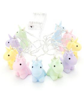 Filo di luci LED con unicorni