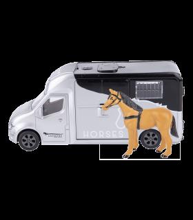 Set gioco con van per trasporto cavalli, con luci e suoni
