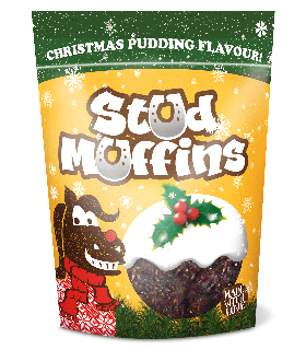 Stud Muffins Christmas Pudding flavour,  Inhalt: 15 Stk.