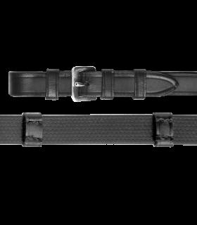 Waldhausen X-Line Riendas de cuero engomado con cintillas